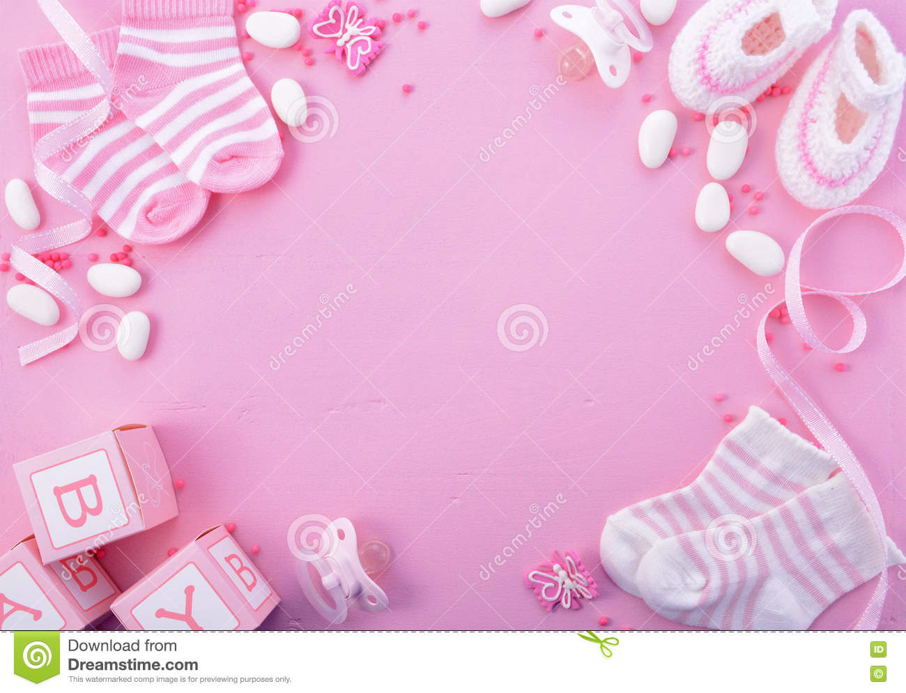 Baby Girl Wallpaper Borders Pink And Purple Pink Baby Shower Nursery Background Stock Image Image Of