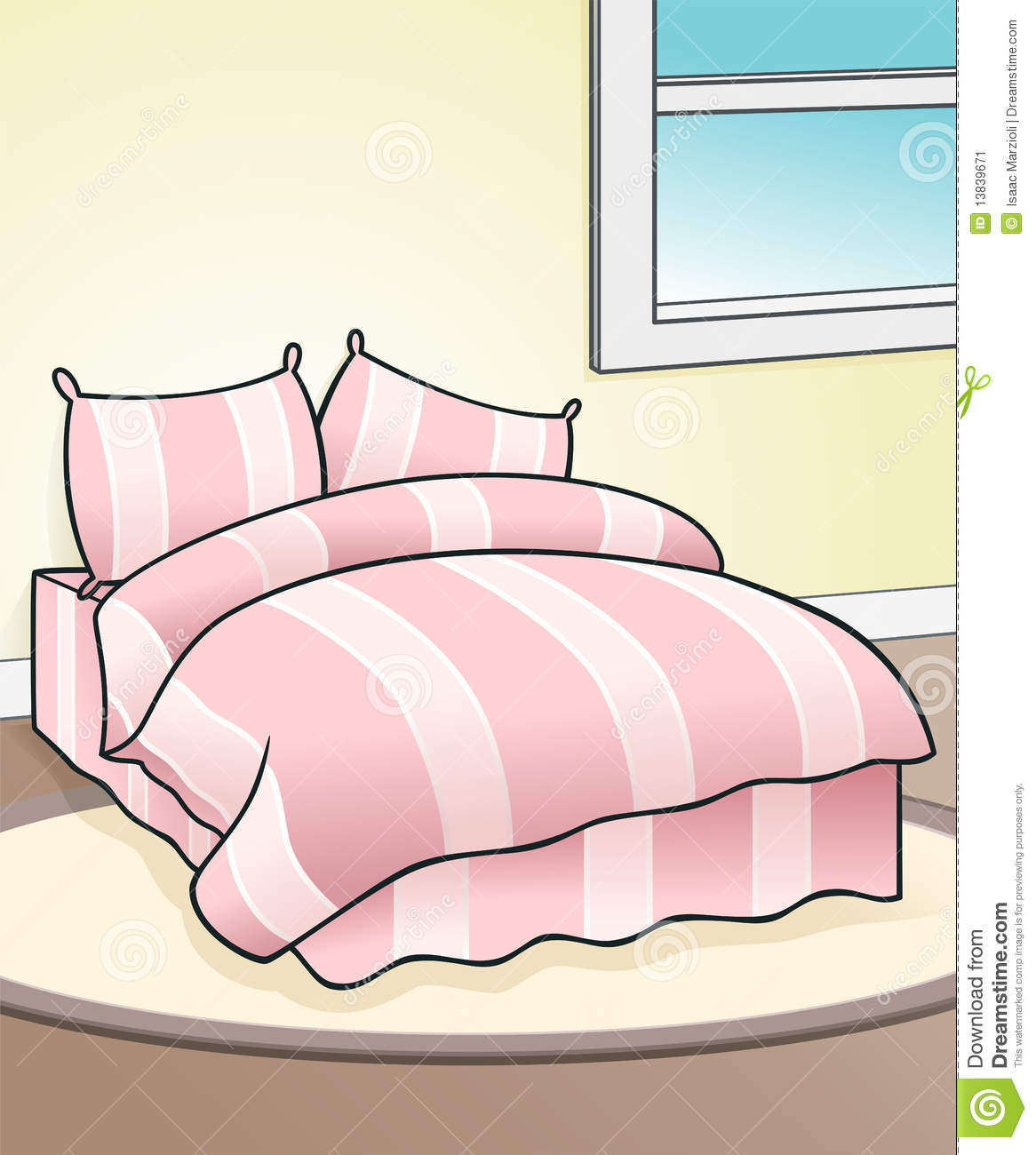 Schlafzimmer Clipart Pink Bed Background Stock Image Image 13839671
