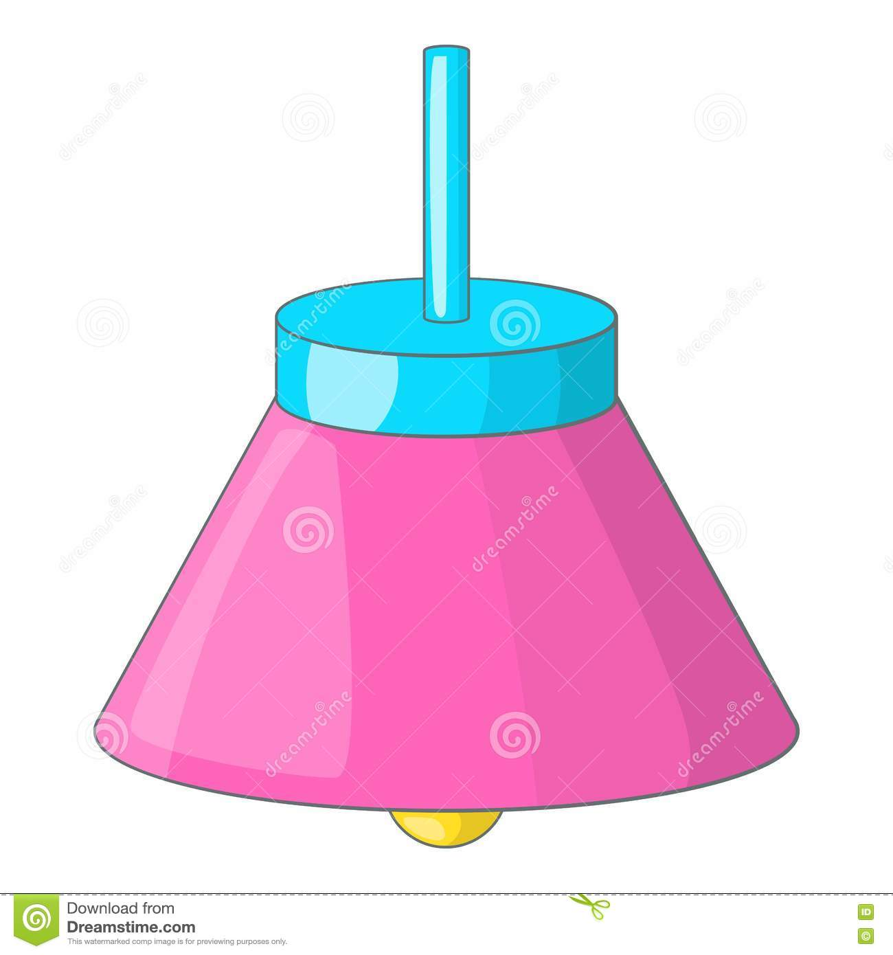 Ceiling Design Vector Pink Ceiling Lamp Icon Cartoon Style Stock Vector Image
