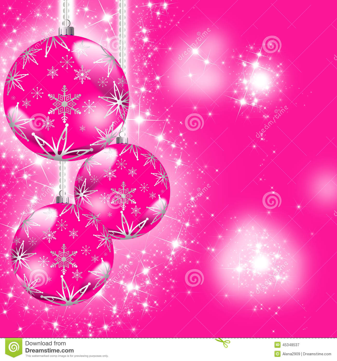 Carte Cadeau Wish Pink Christmas Greeting Card Stock Illustration Image
