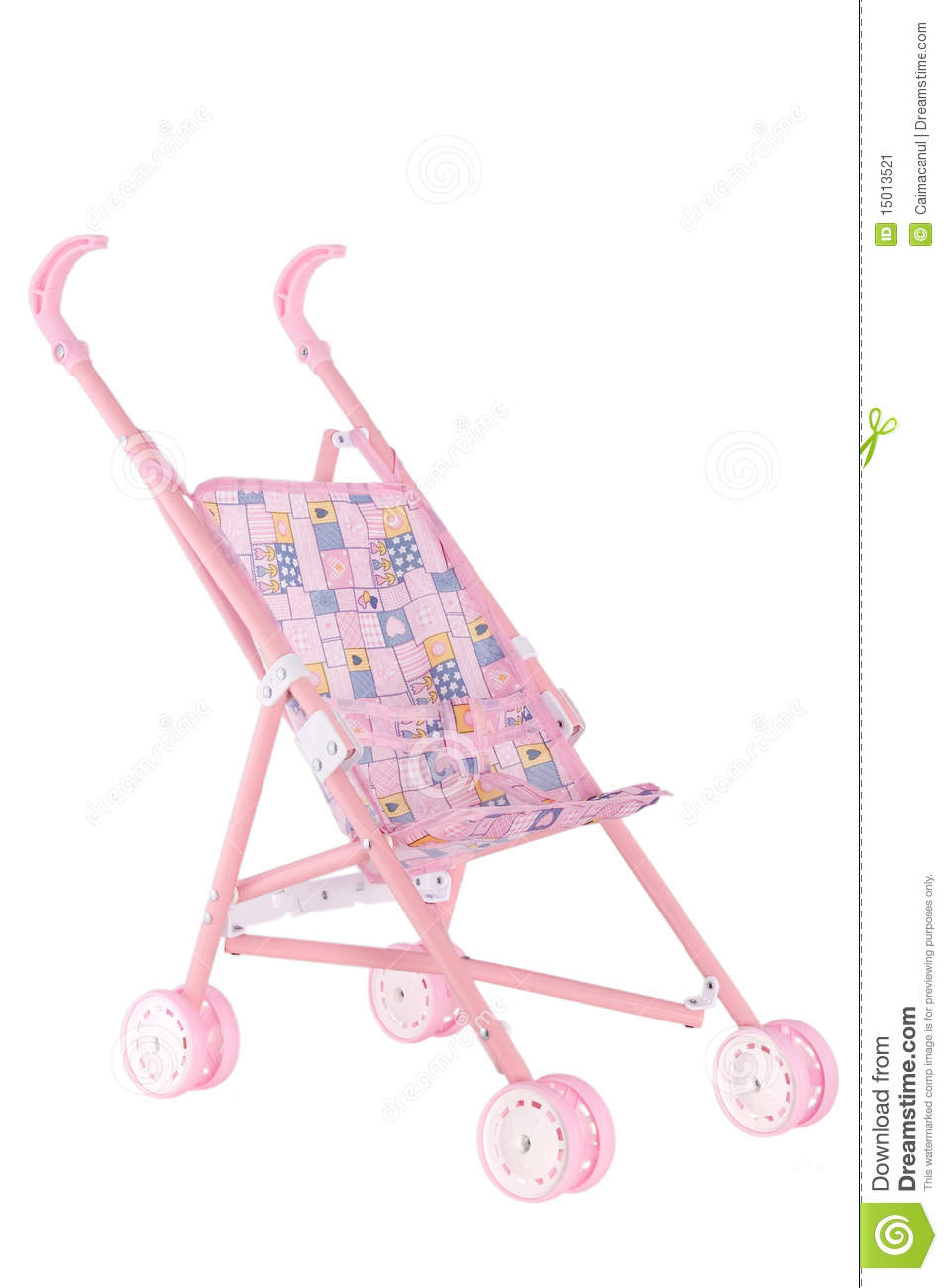 Infant Dolls Pram Pink Doll Pram With Wheels Stock Image Image Of Baby 15013521