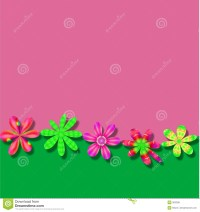 Pink Green Flower Frame Wallpaper Background Royalty Free ...