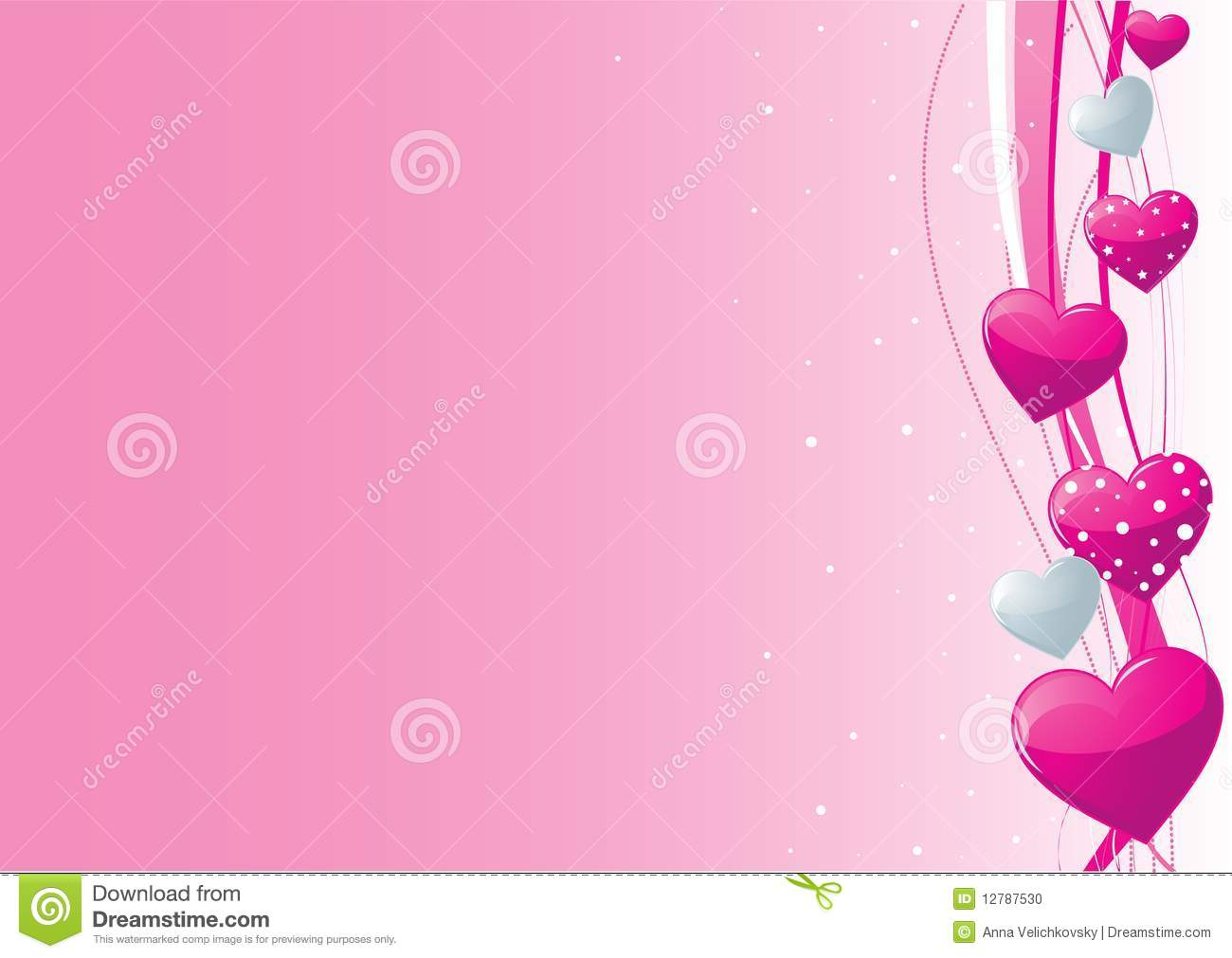 Cute Baby Animals Wallpaper Icon Pink And Grey Valentine Heart Background Stock Photo