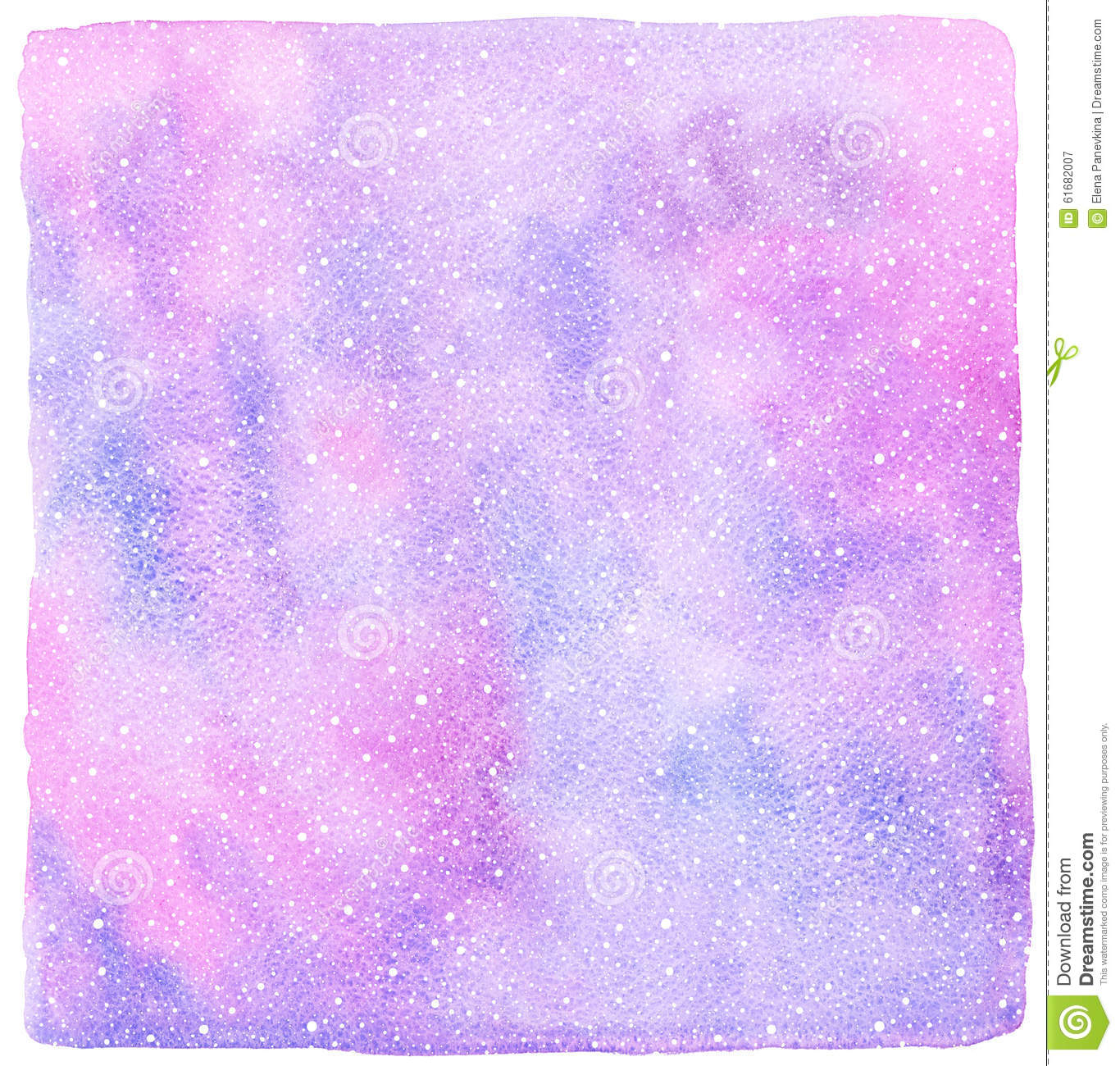 Christmas Snow Falling Wallpaper Pink And Lilac Winter Watercolor Background With Snowfall