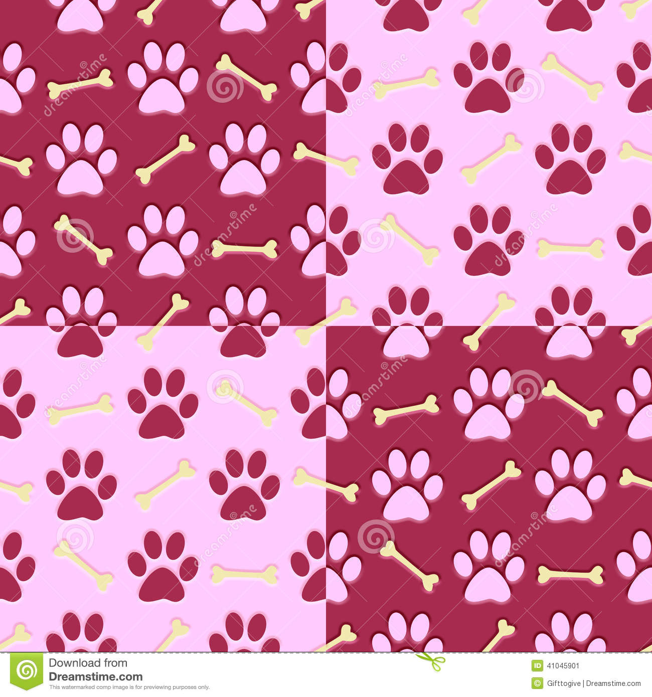 Cute Paw Print Wallpaper Pink Paw Print Background Stock Illustration Image 41045901