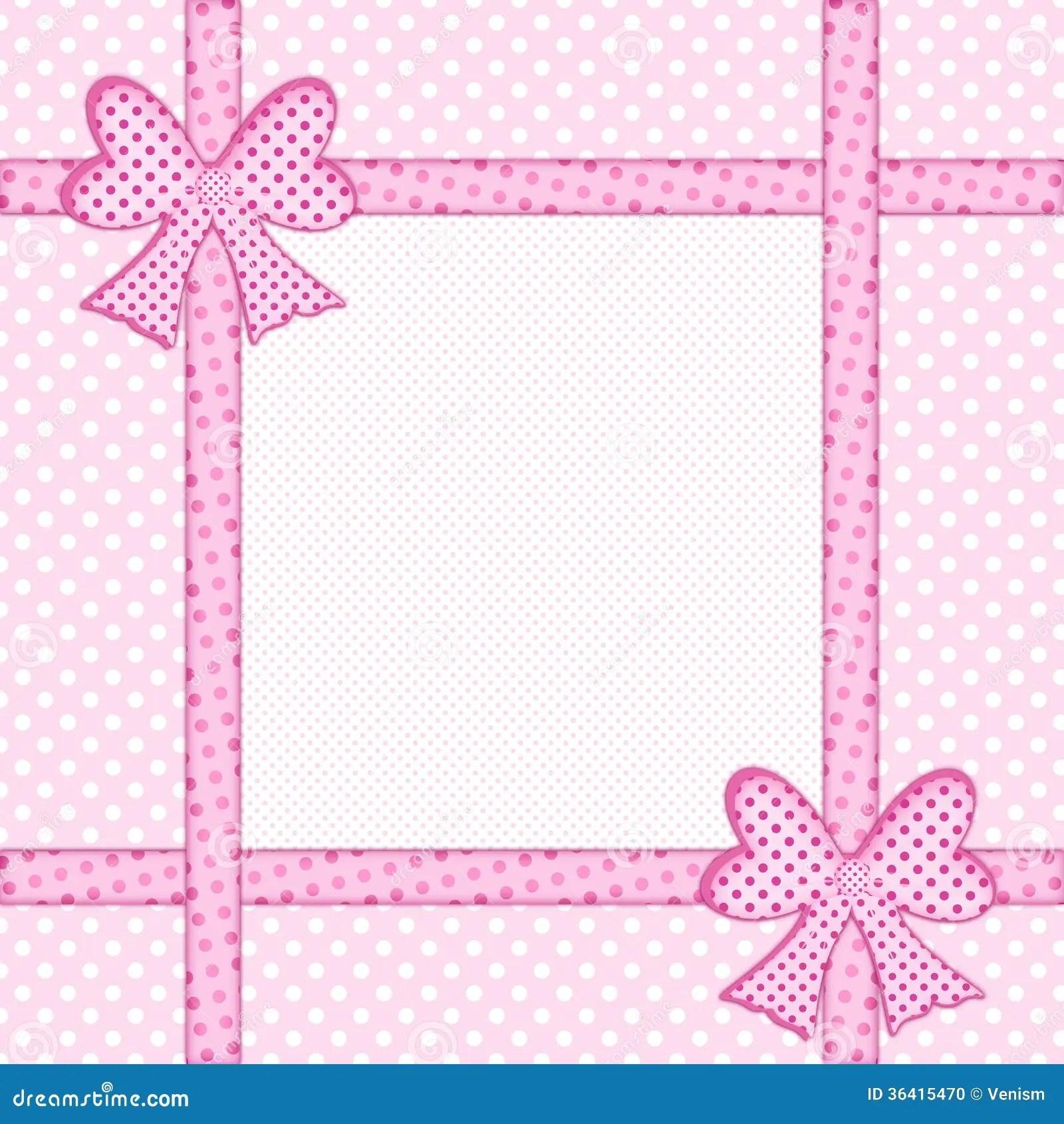 Black And White Polka Dot Wallpaper Border Pink Polka Dot Background With Gift Bows And Ribbons Stock
