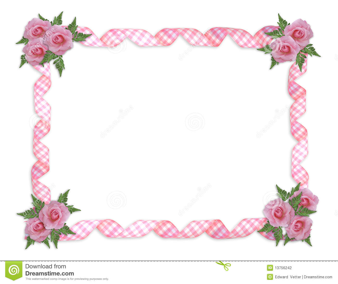 Cute Bordered Pastel Flower Wallpaper Pink Roses Border Stock Illustration Illustration Of