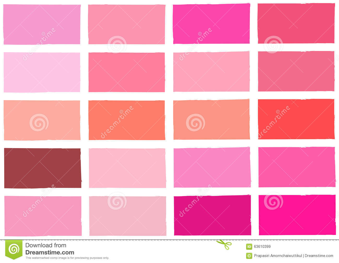 Wandfarbe Hellrosa Pink Tone Color Shade Background Stock Vector Image