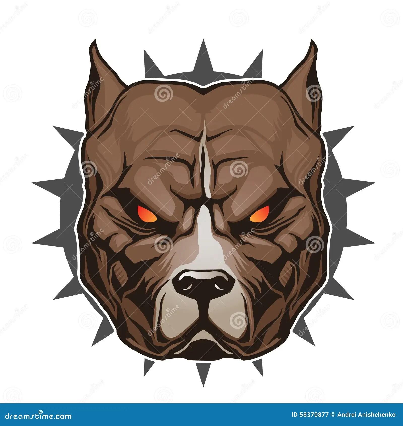 Wallpaper Perritos 3d Pitbull Head Stock Vector Image 58370877