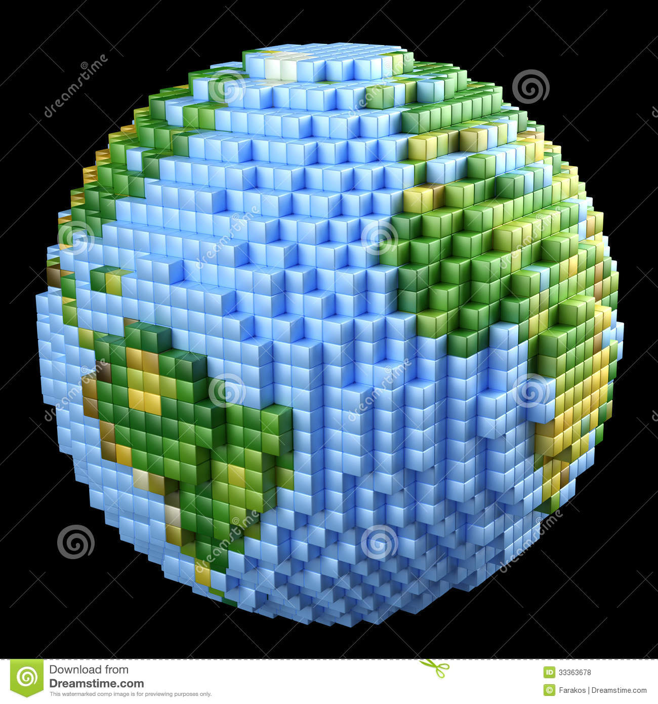 3d World Globe Wallpaper Pixelated Earth Concept Royalty Free Stock Photos Image