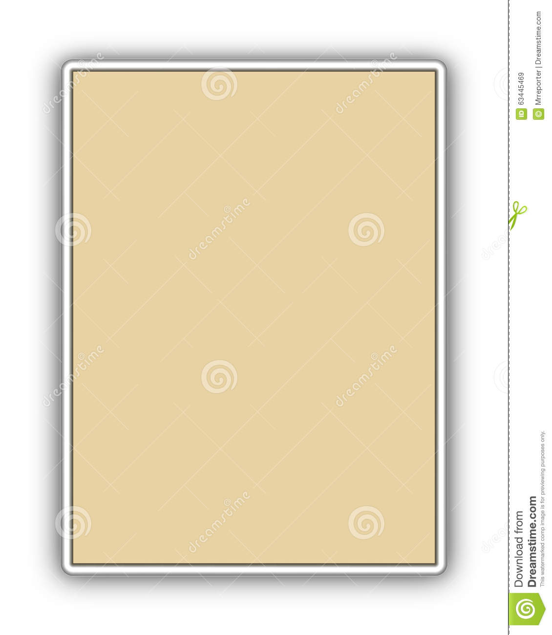 Placard Metal Billboard Stock Illustration Image 63445469