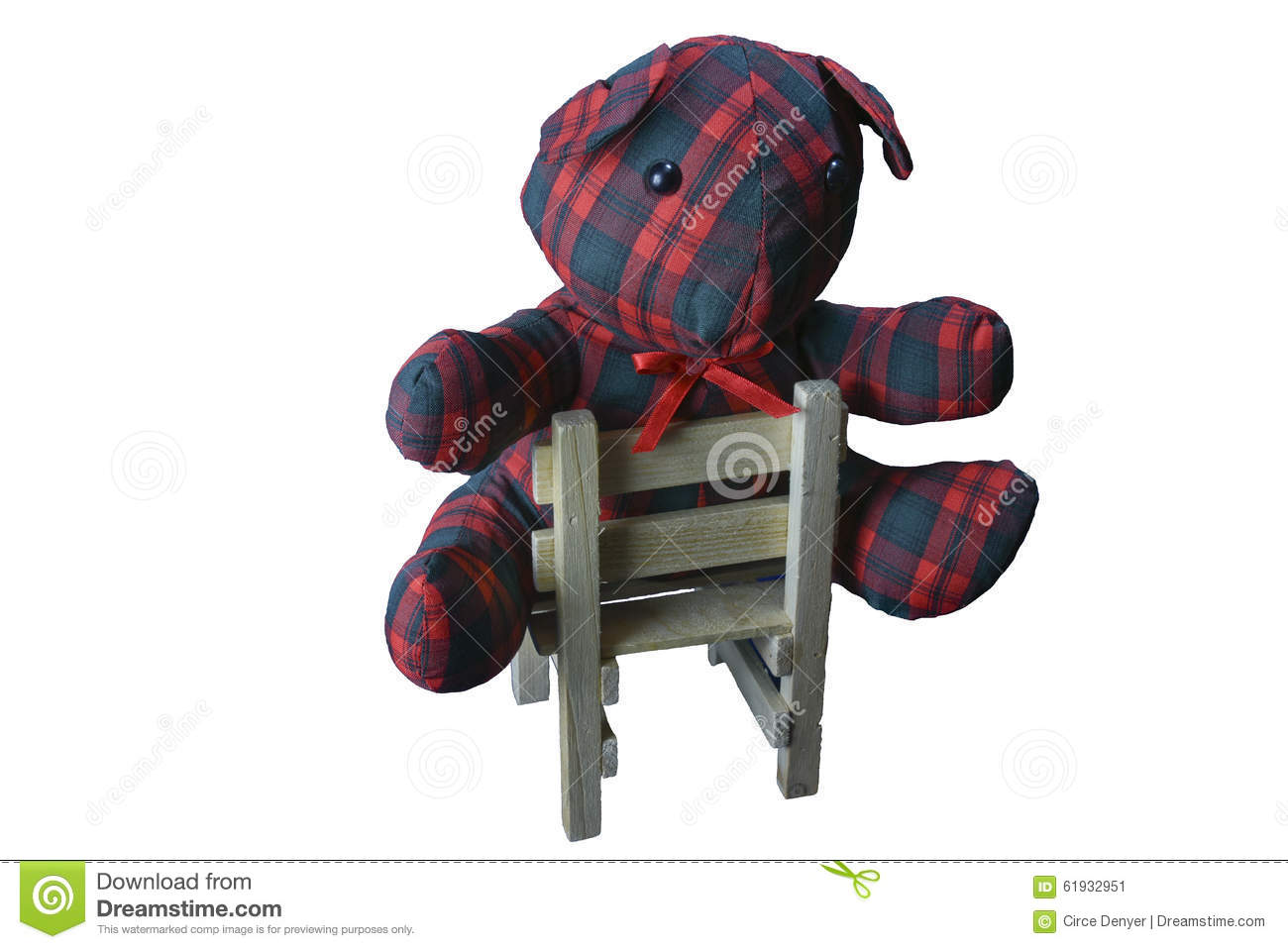 Teddy Plaid Plaid Teddy Bear In A Chair Stock Image Image Of Sits Image
