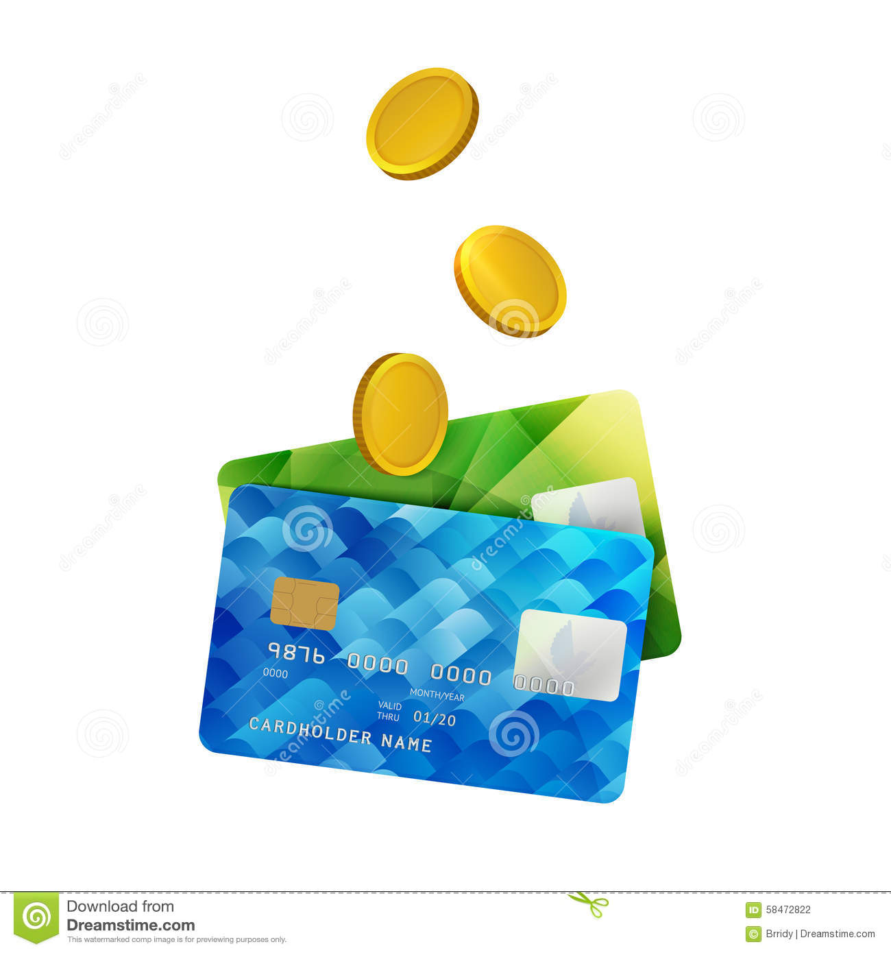 Plastikbank Vector Icon Of Two Payment Cards Royalty Free Stock Photo