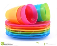 Plastic Cups And Plates Royalty Free Stock Image - Image ...