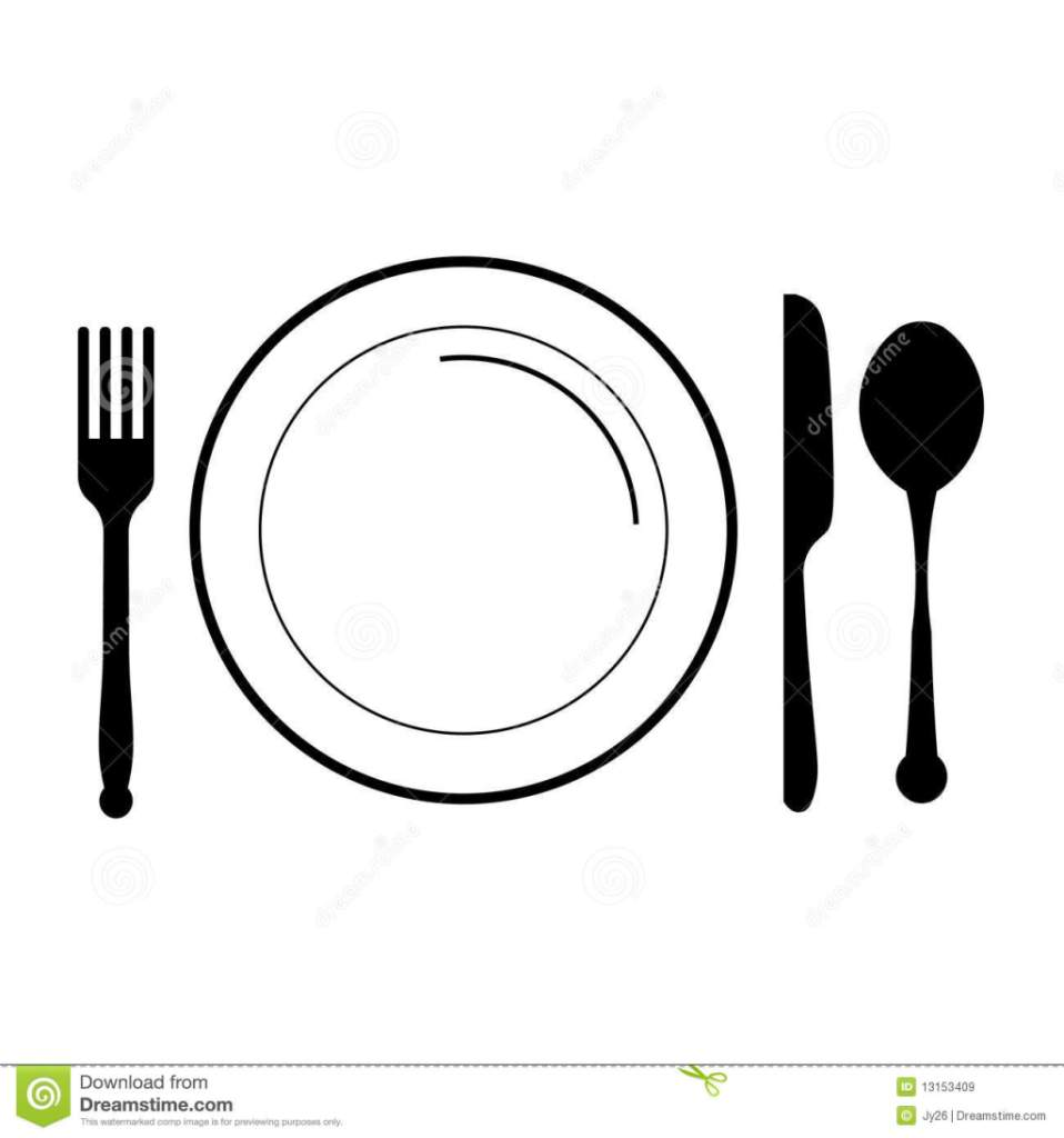 Knife And Fork Clipart Black And White Black Knife And Fork Clip Art