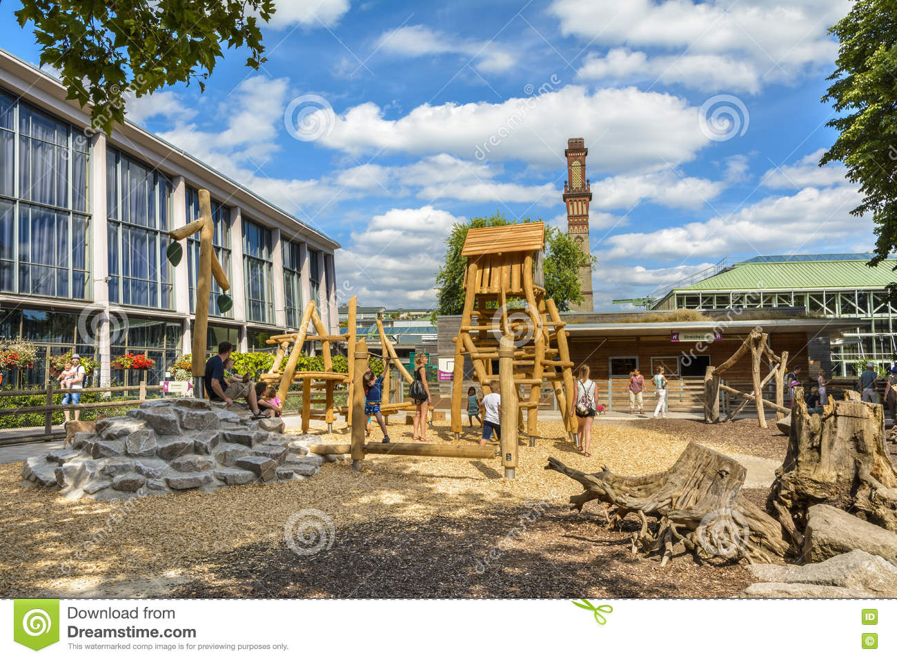Zoologischer Garten Karlsruhe Playground In Karlsruhe Zoo Editorial Photo Image Of Germany