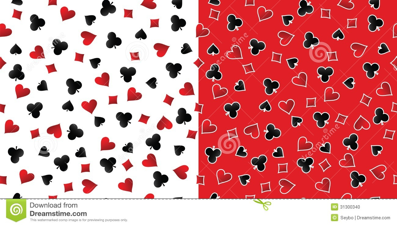 Black And White Diamond Wallpaper Playing Cards Suits Seamless Patterns Vector Stock Photo