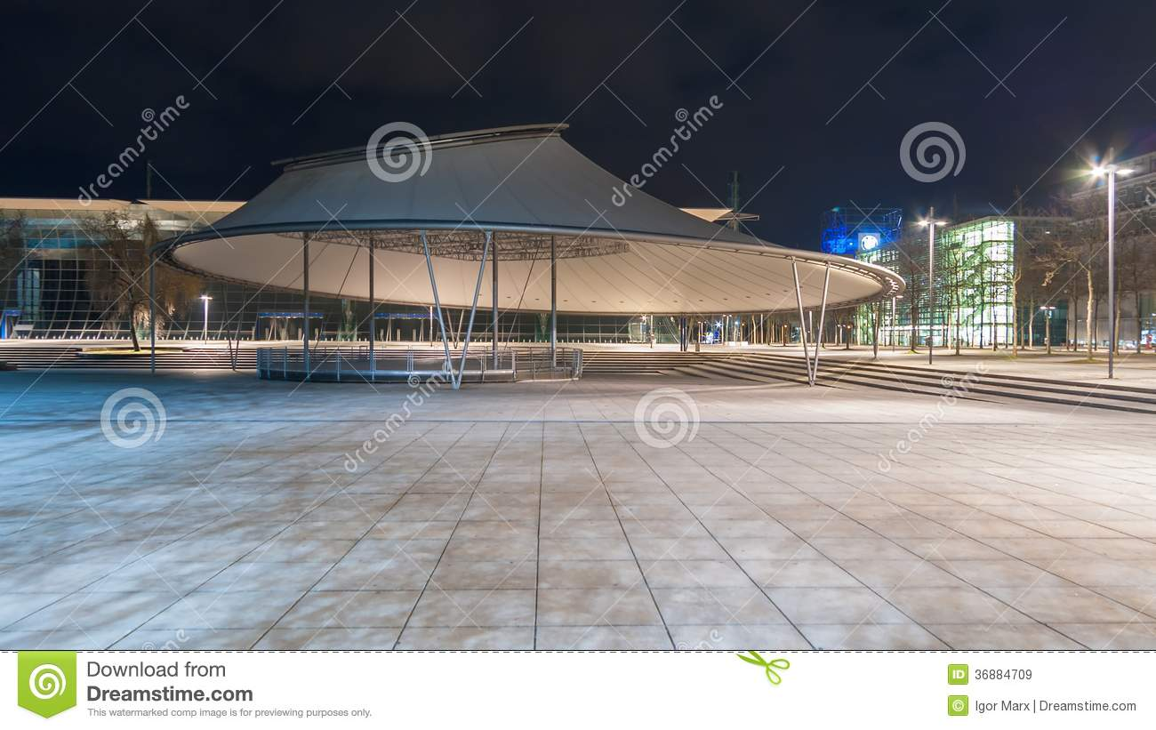 Expo Plaza Hannover Plaza Stage In Hannover Expo Plaza Editorial Stock Image