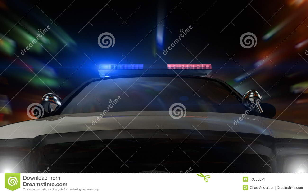 Police Car Driving Front Pov Stock Video Video Of Illuminated Night 43666671