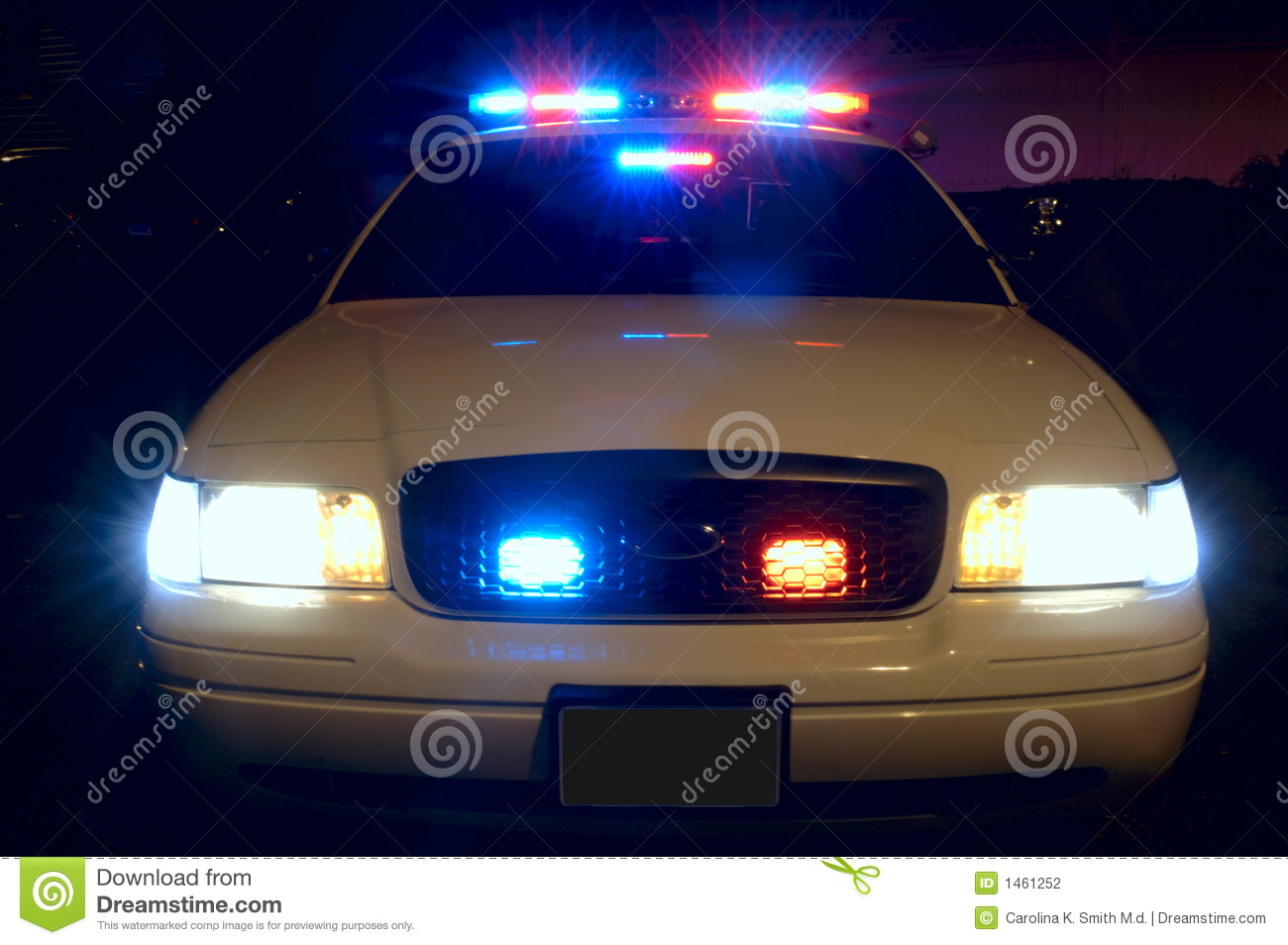 Police Lights Animation Police Car Lights Stock Photography Image 1461252
