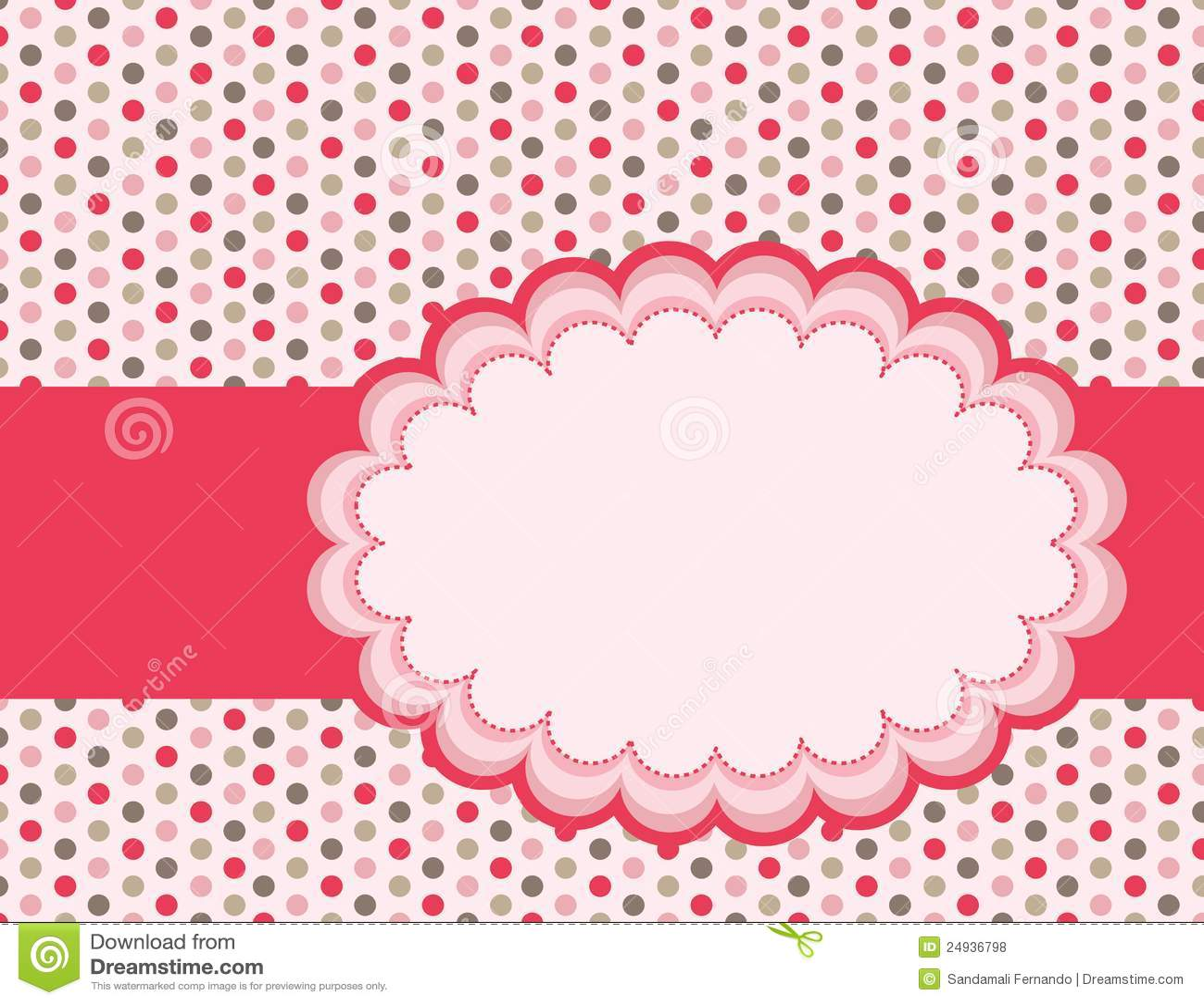 Cute Chevron Print Wallpaper Polka Background Stock Vector Illustration Of Dots