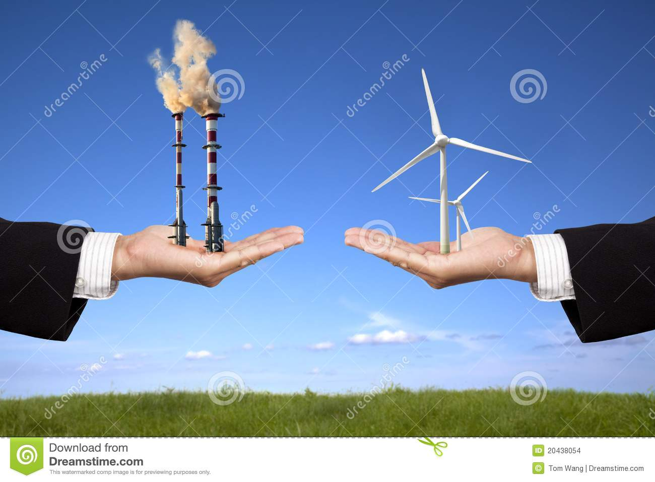 60 Clipart Pollution And Clean Energy Concept Stock Images - Image