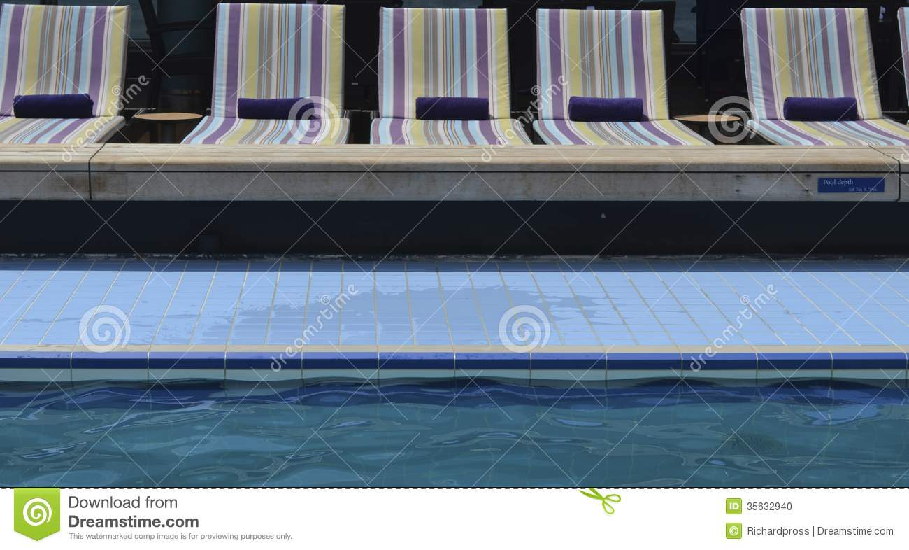Poolside Chairs Poolside Lounge Chairs Stock Photo Image 35632940