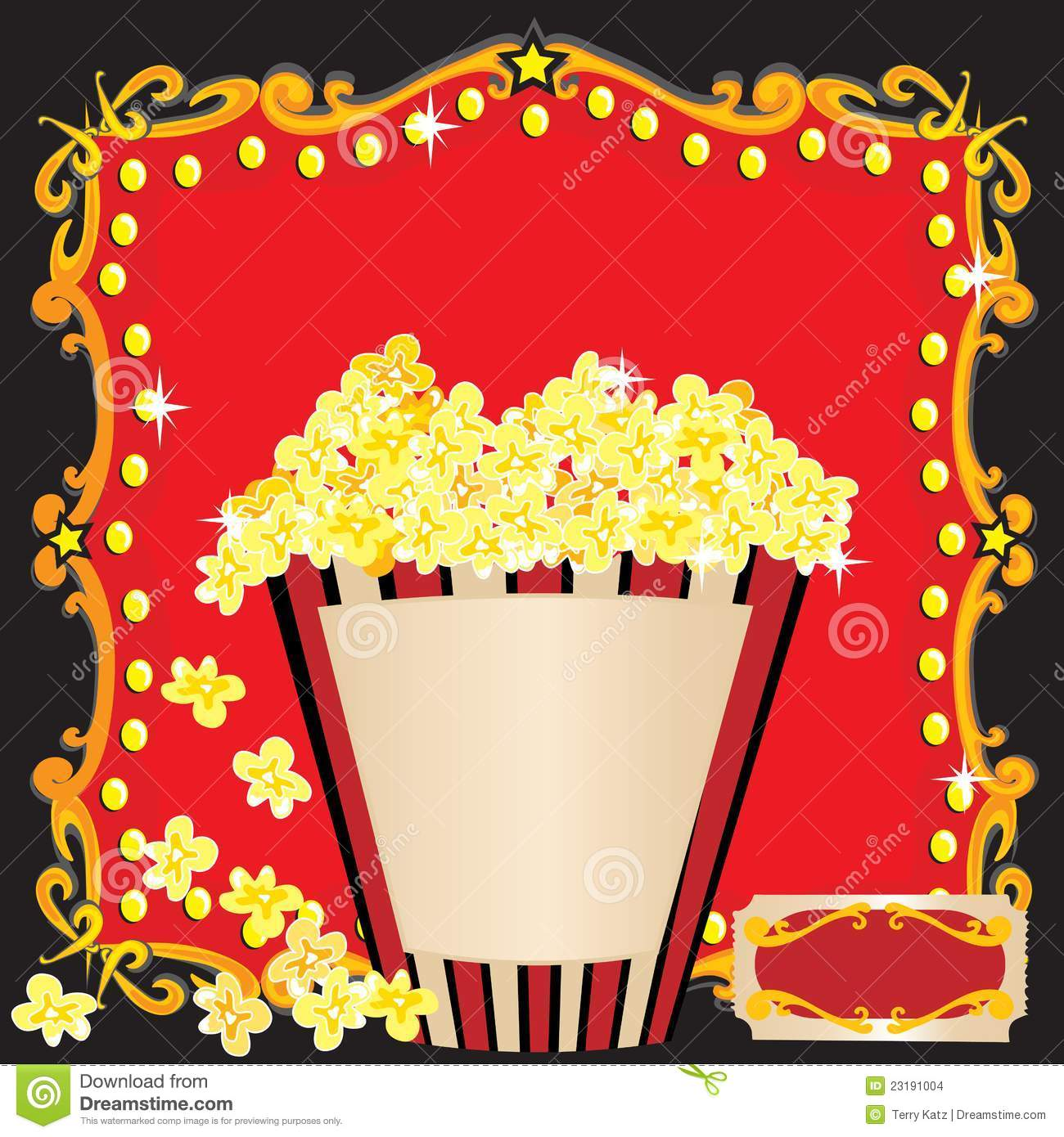 Kinderfeestje Uitnodiging Tekst Popcorn And A Movie Birthday Party Invitation Stock Images