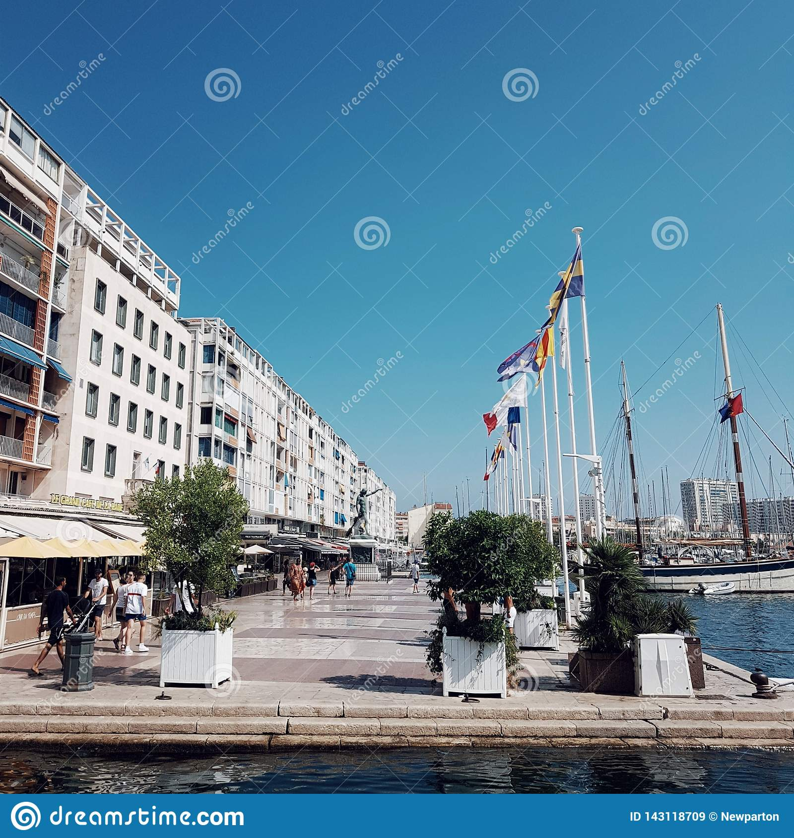 Port Toulon The Port Of Toulon Provence French Riviara France Editorial