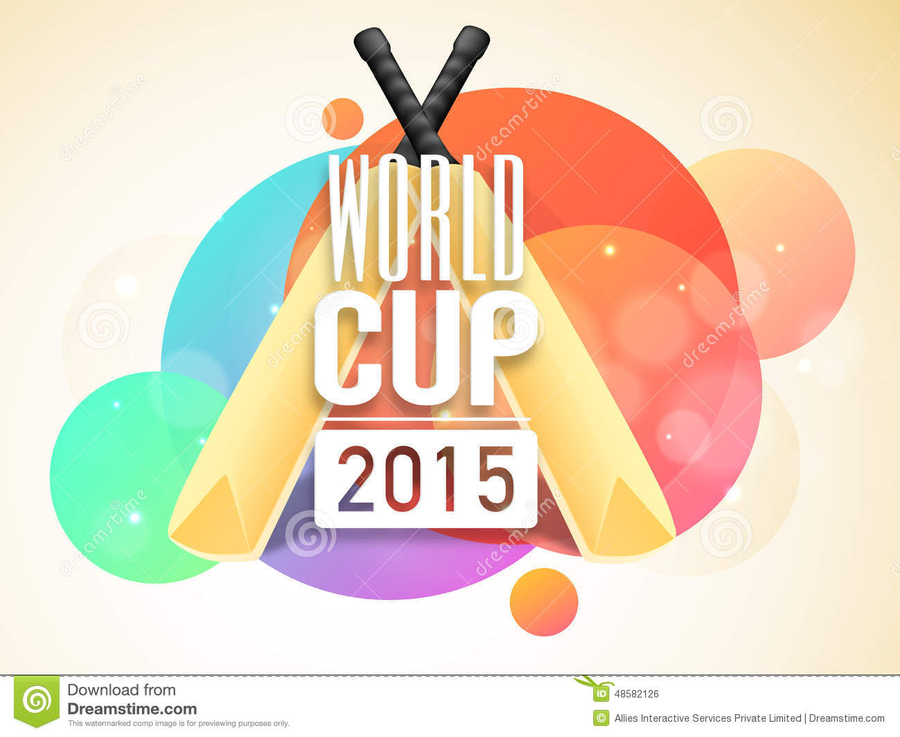 Poster or banner design for world cup 2015 royalty free stock image