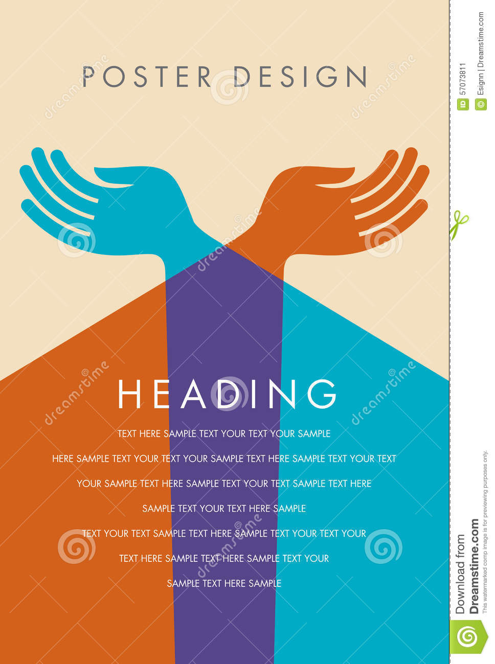 Design illustration poster vector youth