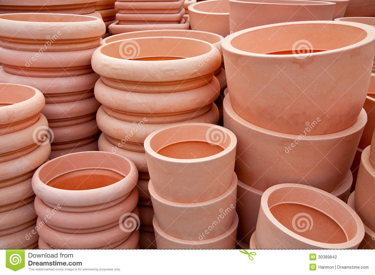 Flower Pots For Sale Pots For Sale Stock Photography Image 30389842