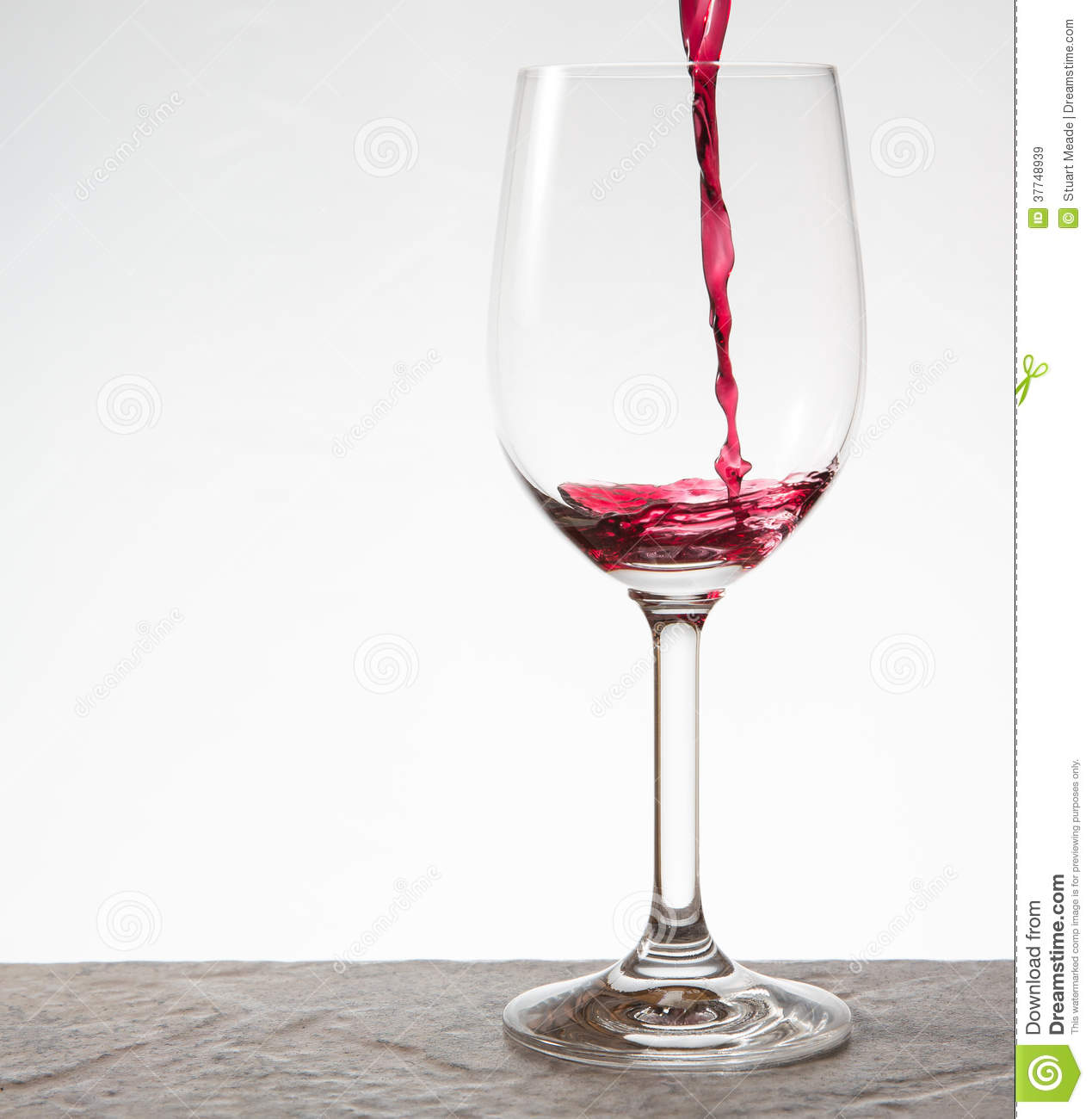 Fancy Wine Glass Pouring A Glass Of Wine Royalty Free Stock Images Image