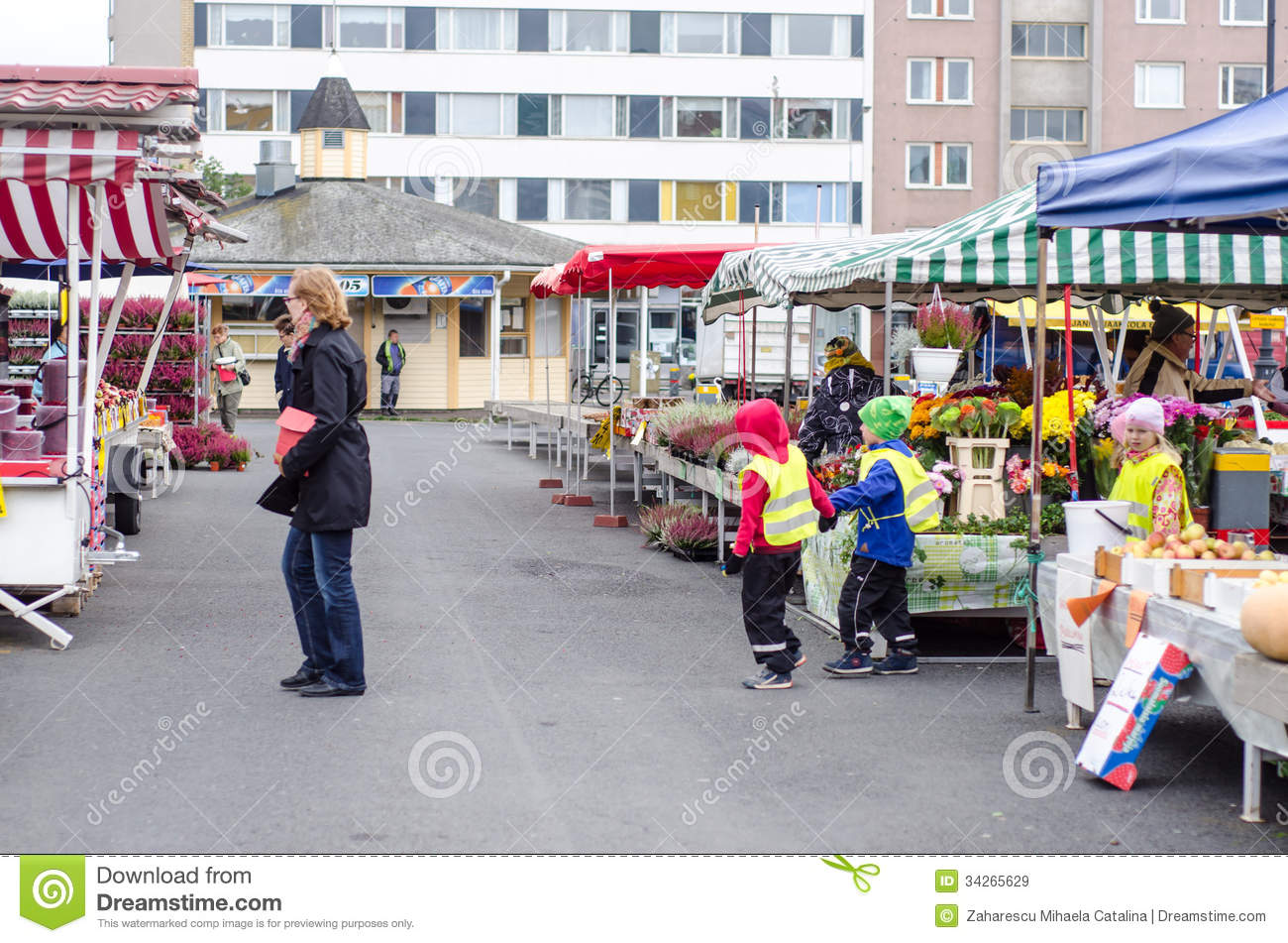 Stock Markets Open Time Preschool Kids Visiting Open Market Editorial Stock Image