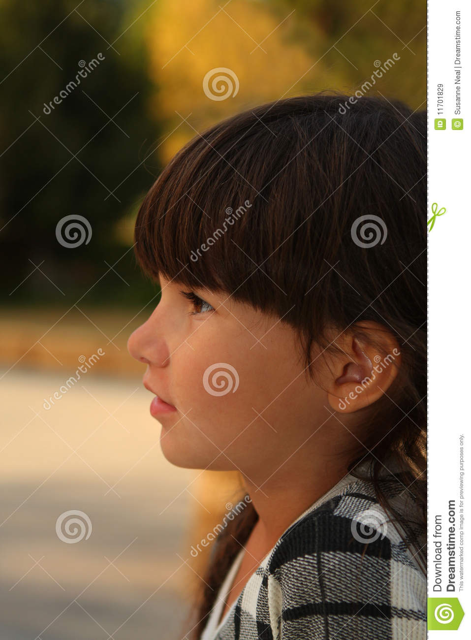 Hair Braids Thailand Pretty 6 Year Old Girl In Brunette Braids Royalty Free