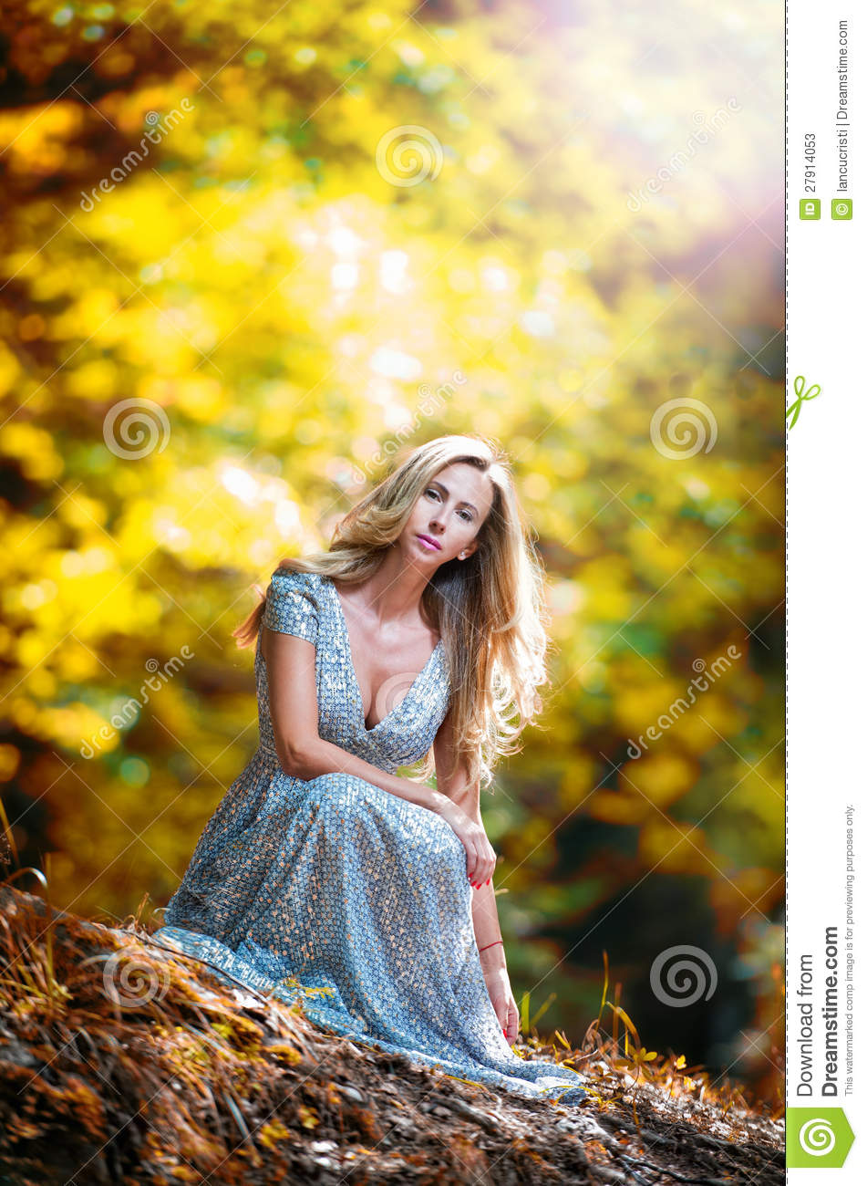 Pretty Girl Wallpapers Hd Pretty Blonde Fairy Lady With White Dress Stock Image