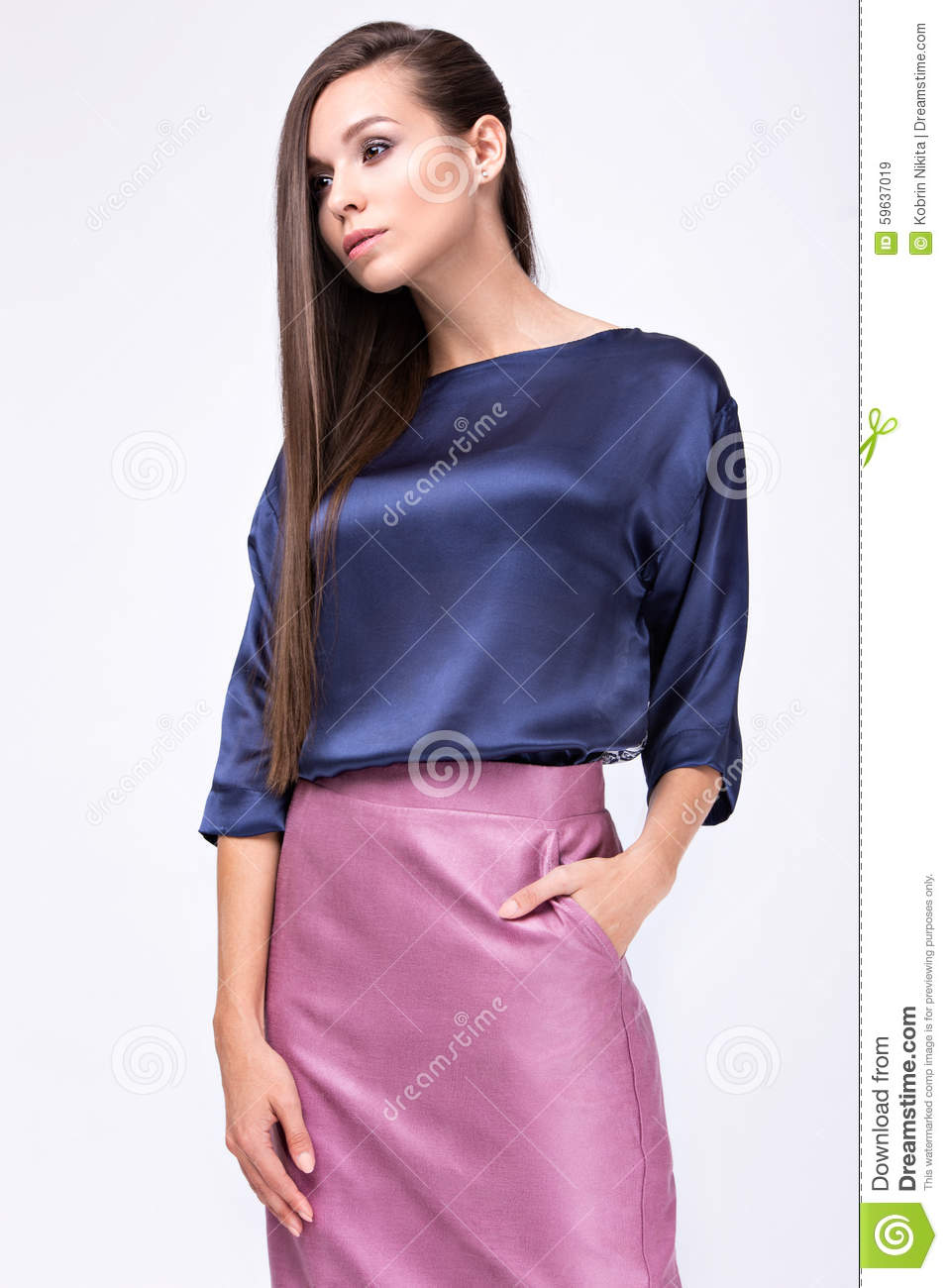 Stylish Clothes Pretty Girl In Fashionable Stylish Clothes Stock Image Image Of