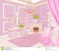 Princess dressing room stock vector. Image of fairy ...