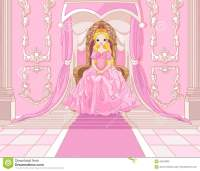 Princess On The Throne Stock Vector - Image: 42520809