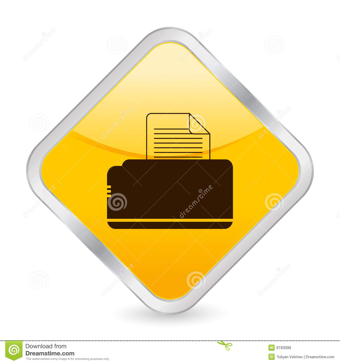 Email Icon Isolated On Special Yellow Square Button Abstract Printer Yellow Square Icon Royalty Free Stock Photos