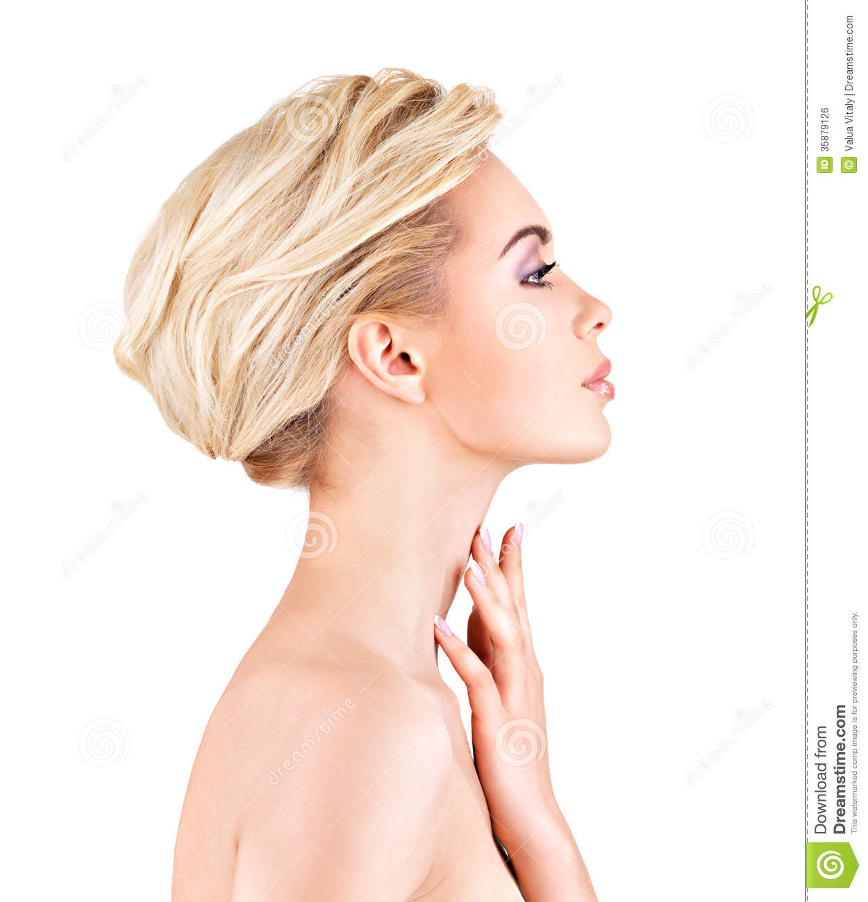 Woman Profile Profile Face Of Young Woman Stock Photo Image Of Young