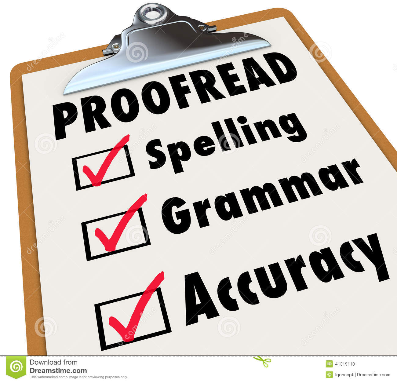Gamma Hek Proofread Clipboard Checklist Spelling Grammar Accuracy