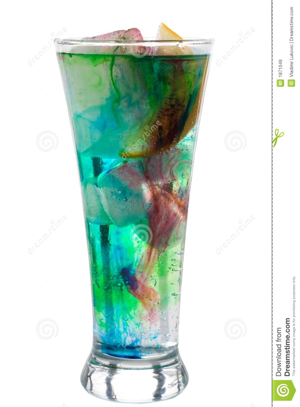 Glass Lamp Vector Psychedelic Drink Stock Image. Image Of Macro, Effect