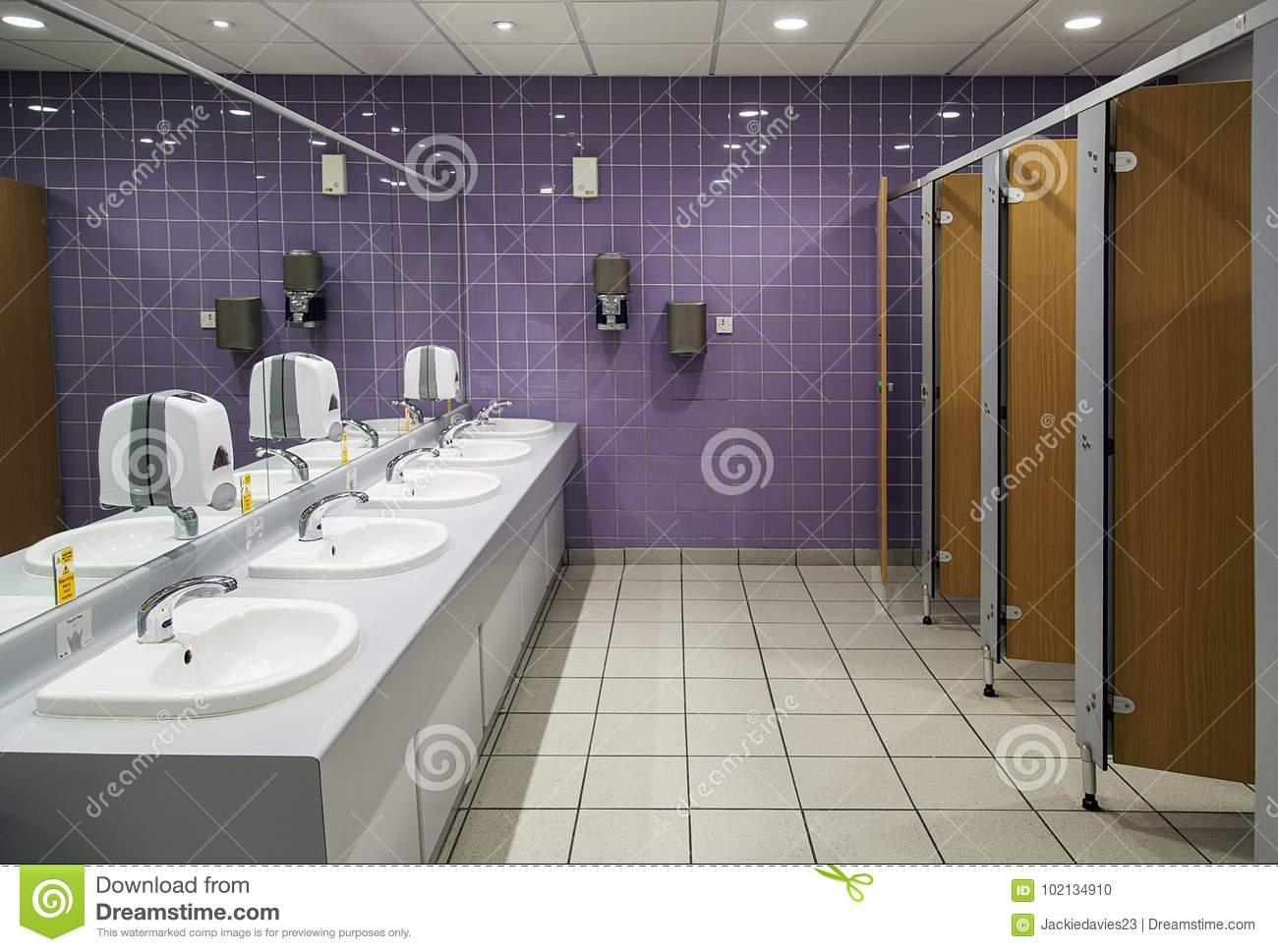 Bathroom With Mirrors Public Bathroom Stock Photo Image Of Handbasin Mirror 102134910