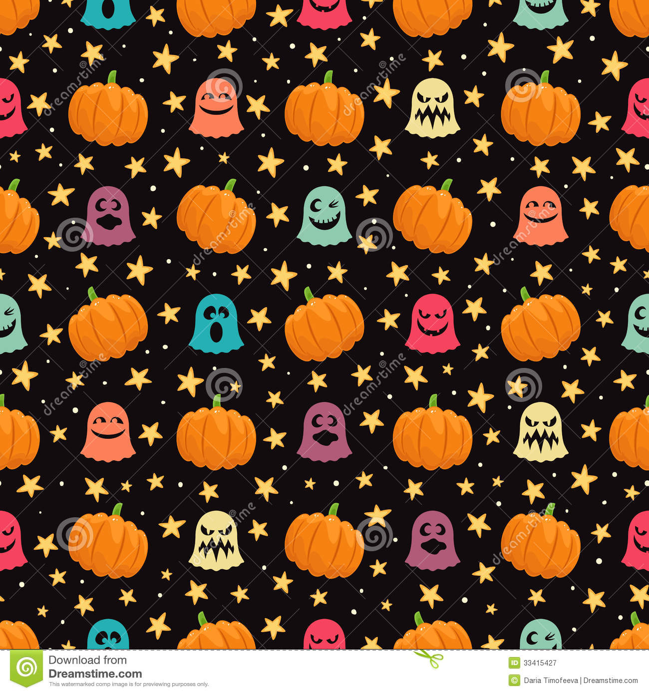 Fall Pumpkin Iphone Wallpaper Pumpkins And Ghosts Stock Vector Illustration Of Abstract