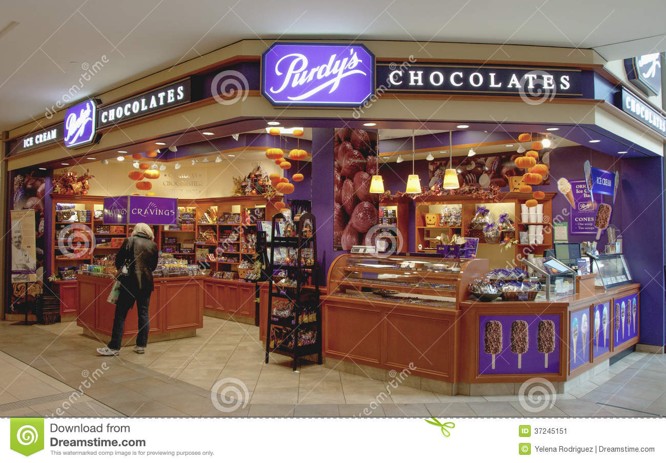 Canadian Stores Purdy 39s Chocolate Store In Toronto Editorial Photo Image