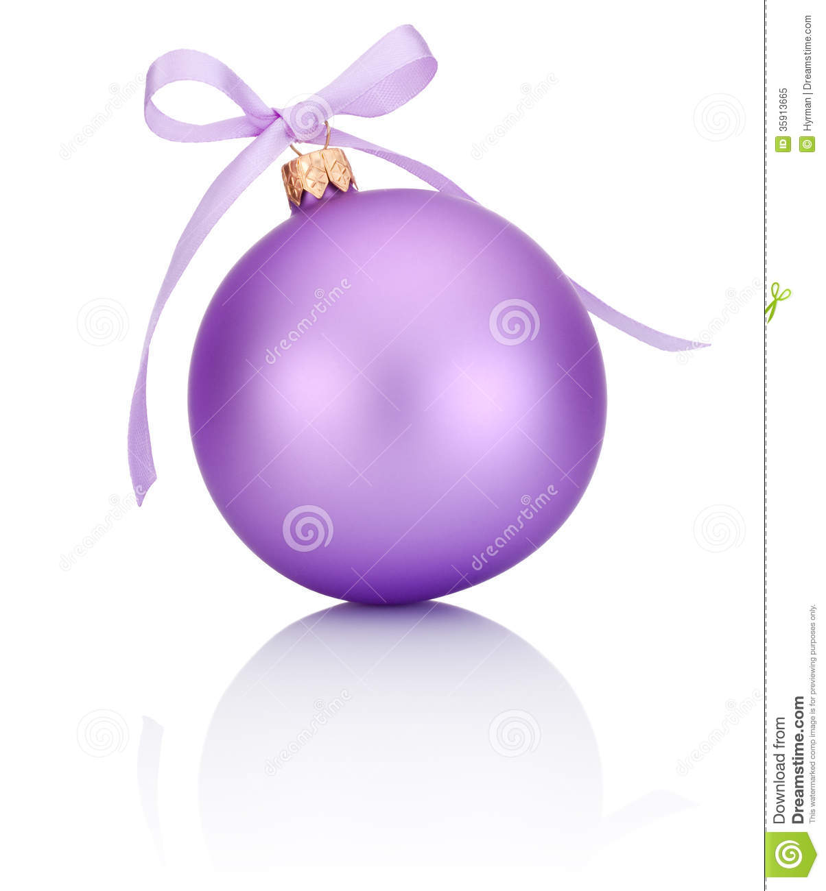 3d Xmas Wallpaper Free Purple Christmas Ball With Ribbon Bow Isolated On White