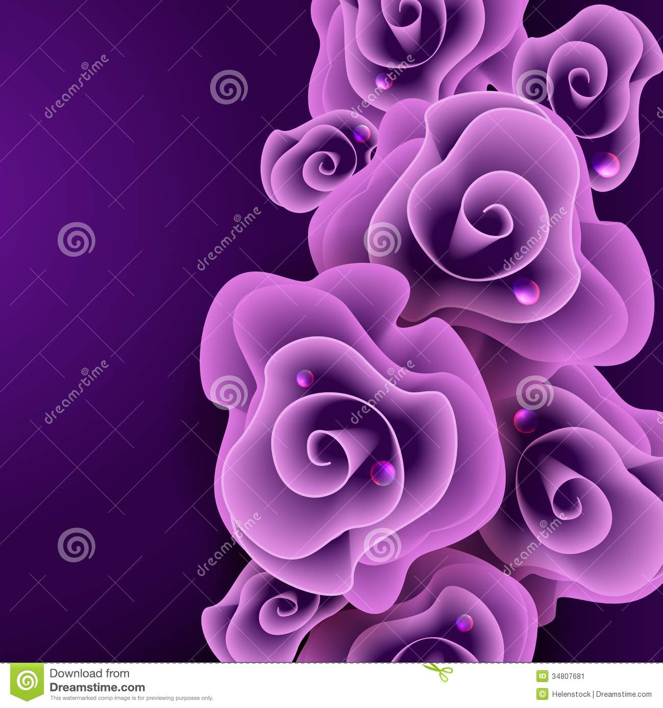 Birthday Cake Wallpaper 3d Download Purple Rose Background Stock Vector Illustration Of
