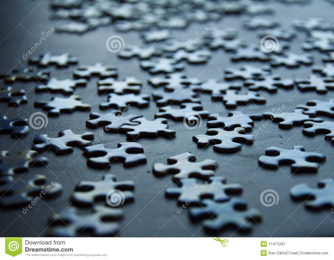 3d Metallic Wallpaper Puzzle Pieces Background Royalty Free Stock Photography