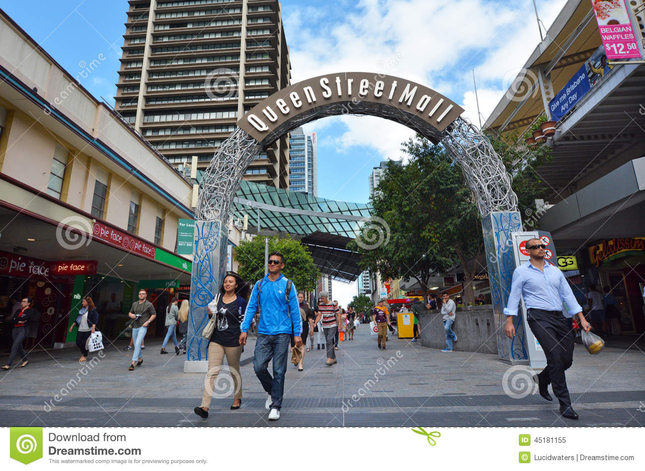 Boxing Brisbane City Queen Street Mall Brisbane Queensland Australia Editorial